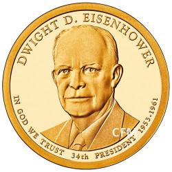 1 Dollar USA BE 2015 34e Président - Dwight D. Eisenhower