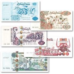 Lot de 5 billets Algérie 1992