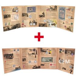 Lot des 2 albums Première et Seconde Guerre mondiale