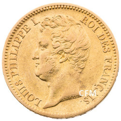 20 Francs Or Louis-Philippe Tête Nue 1831 B
