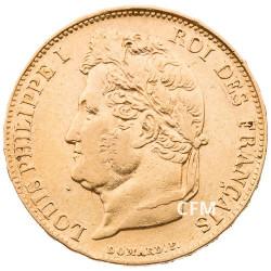 20 Francs Or Louis-Philippe Tête Laurée 1834 W