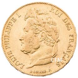 20 Francs Or Louis-Philippe Tête Laurée 1837 A