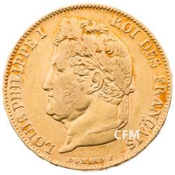 20 Francs Or Louis-Philippe Tête Laurée 1842 W