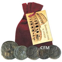 Lot de 5 pièces en Bronze - Rome Antique 300-400 ap. J.-C.