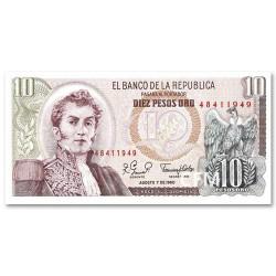 Billet 10 Pesos Colombie 1974-1980