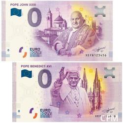 Lot des 2 Billets souvenirs Vatican 2018/2019