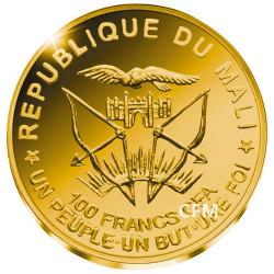 100 Francs CFA Or BE 2018 - Centenaire de l'Armistice