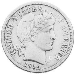 10 cents Argent USA 1892 -1916 - Barber