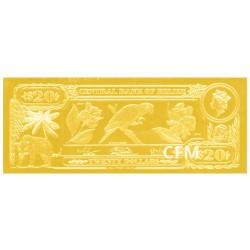 Billet 20 Dollars Belize 1984 - Ara Rouge