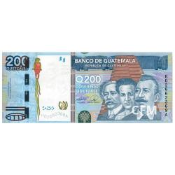 Billet 200 Quetzales Guatemala 2009