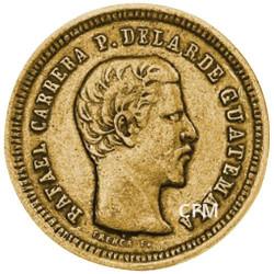 4 Reales Or Guatemala - Rafael Carrera