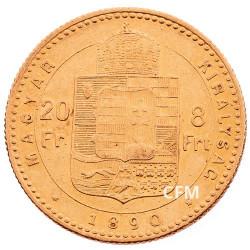 20 Francs/8 Florin Hongrie 1870-1892 - François-Joseph I TL