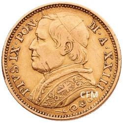 20 Lires Italie 1866-1870 - Pie IX