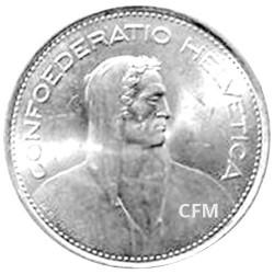 5 Francs Argent Suisse 1931-1969 - Confédération helvétique