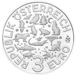 3 Euro Autriche 2019 - Phosphorescente Loutre