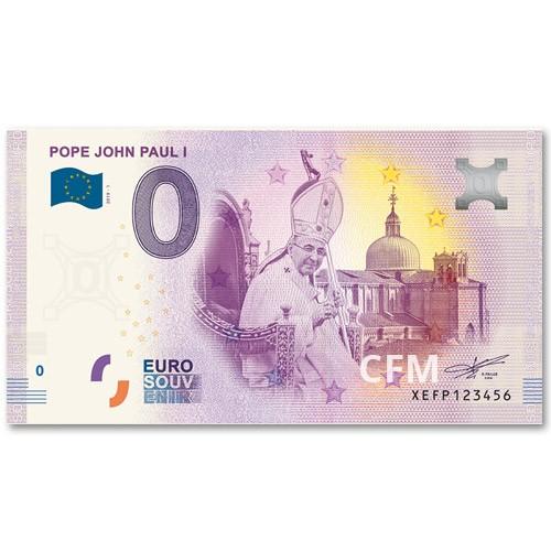 Billet souvenir 0 Euro Vatican 2019 - Jean-Paul Ier