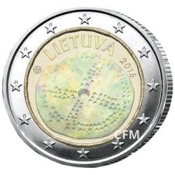 2 Euro Lituanie 2016 hologramme - Culture baltique