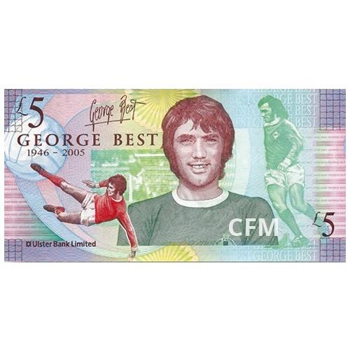 Billet 5 Livres Irlande du Nord 2006 - George Best