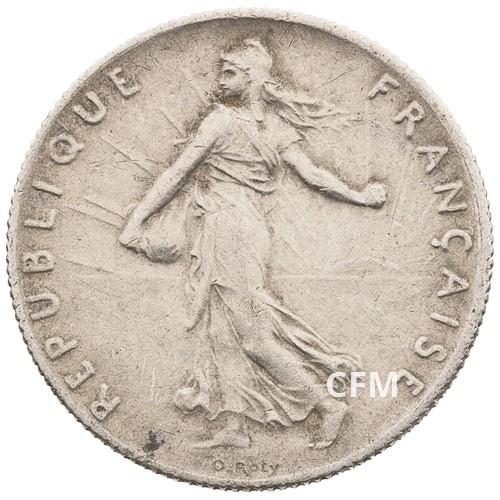 1915 - 50 CENTIMES ARGENT - TYPE SEMEUSE 3e REPUBLIQUE