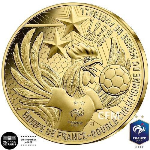 50 Euro Or France BE 2019 - Champions du monde 1er anniversaire du Titre 2018