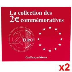 Lot de 2 écrins pour 70 pièces de 2 Euro commémoratives
