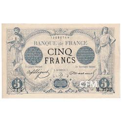 Billet 5 Francs Noir 1873