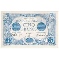 Billet 5 Francs Bleu