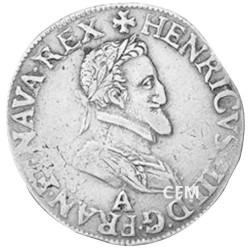 Demi-Franc Argent Henri IV