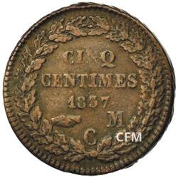 5 Centimes Monaco 1837-1838 - Honoré V