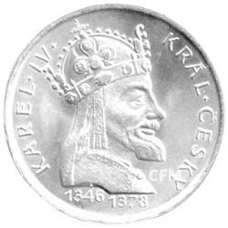 100 Couronnes Argent Tchécoslovaquie 1978 - 600 ans de la mort de Charles IV