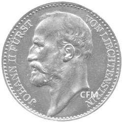 1 Couronne Argent Liechtenstein 1900-1915 - Jean II