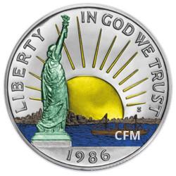 1/2 Dollar colorisé USA 1986 - Liberty
