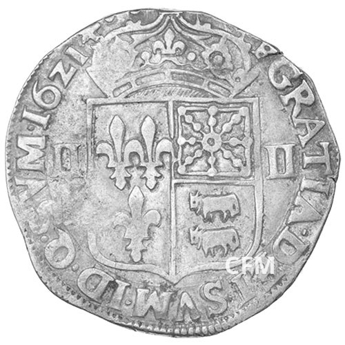 Quart d'écu du Béarn - Louis XIII