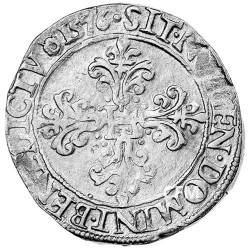 Franc d'Argent au col plat - Henri III