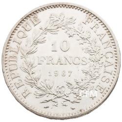 10 Francs Argent Hercule 1967