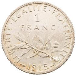 1915 - 1 Franc Argent - type Semeuse IIIeme République