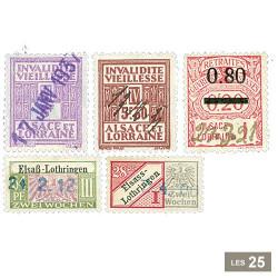 25 timbres sociaux fiscaux Alsace et la Lorraine