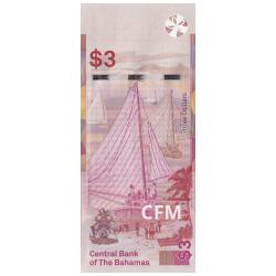 Billet 3 Dollars Bahamas 2019