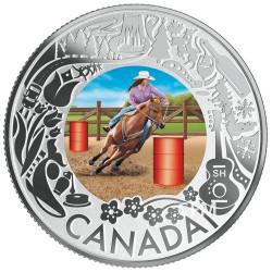 3 Dollars Argent Canada BE 2019 colorisée - Rodéo