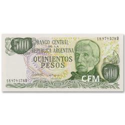 Billet 500 Pesos Argentine 1982