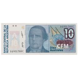 Billet 10 Australes Argentine 1985-1989