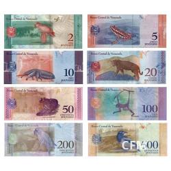 Lot de 8 billets Venezuela 2018