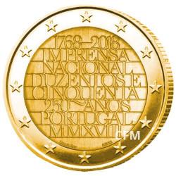 2 Euro Portugal 2018 dorée - 250 ans de  l'imprimerie nationale