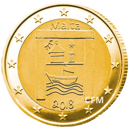 2 Euro Malte 2018 dorée - Héritage culturel