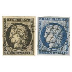 2 timbres Cérès
