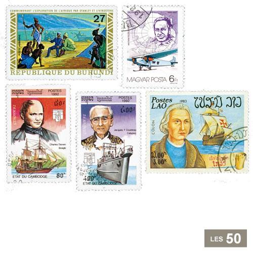 50 timbres Explorateurs