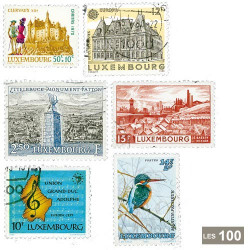 100 timbres Luxembourg