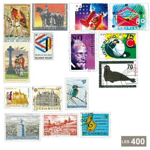 Lot de 400 timbres Benelux Grand format