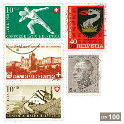 100 timbres Suisse