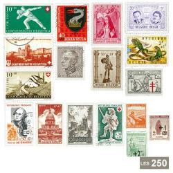 Lot de 250 timbres Europe surtaxés